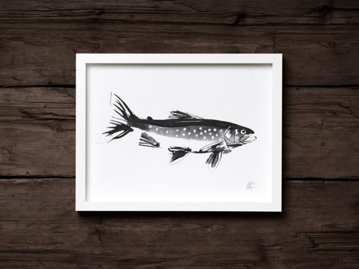 arctic char art print by teemu jarvi