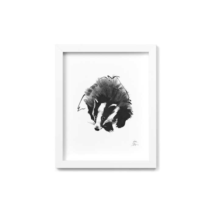 badger art print by teemu jarvi