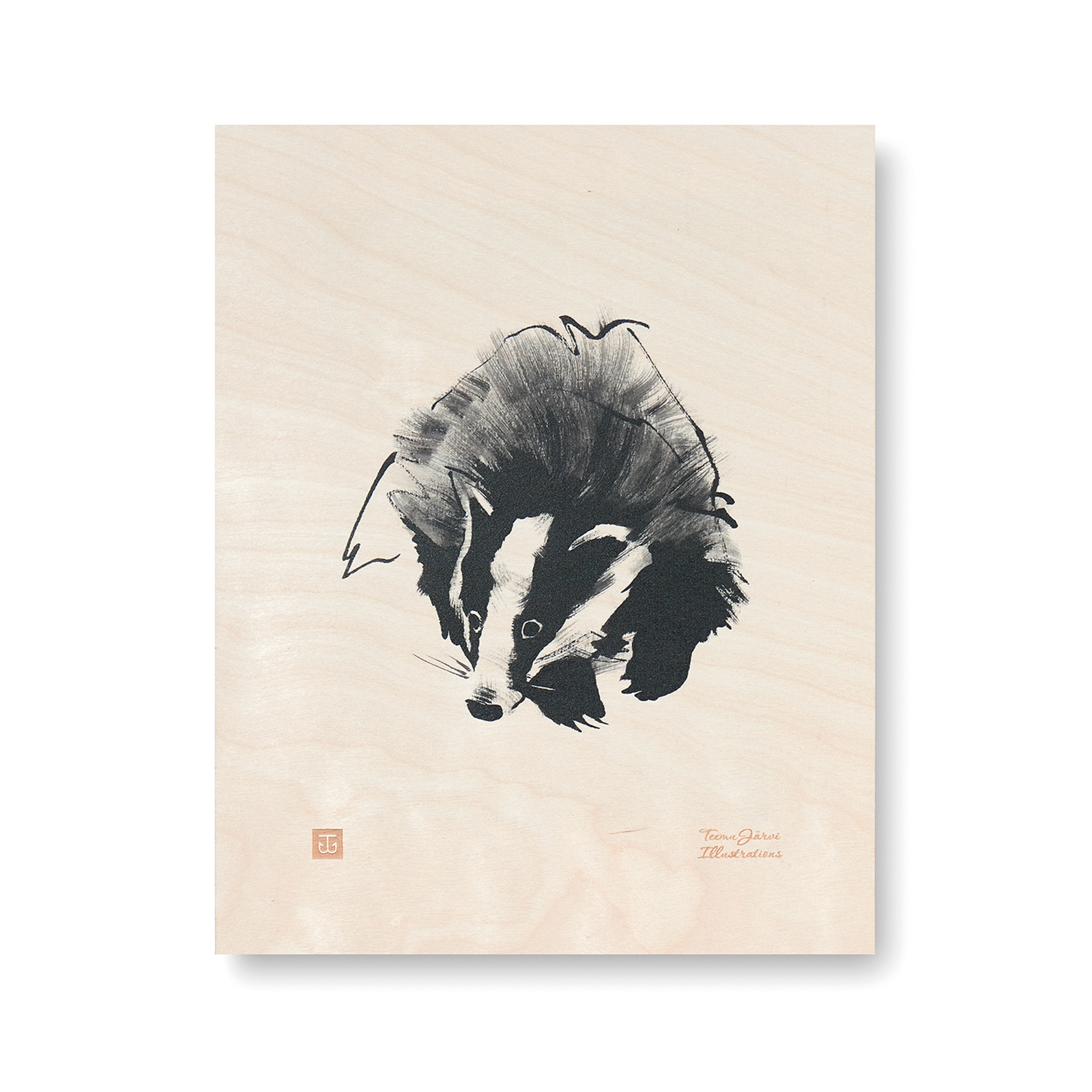 Badger plywood poster