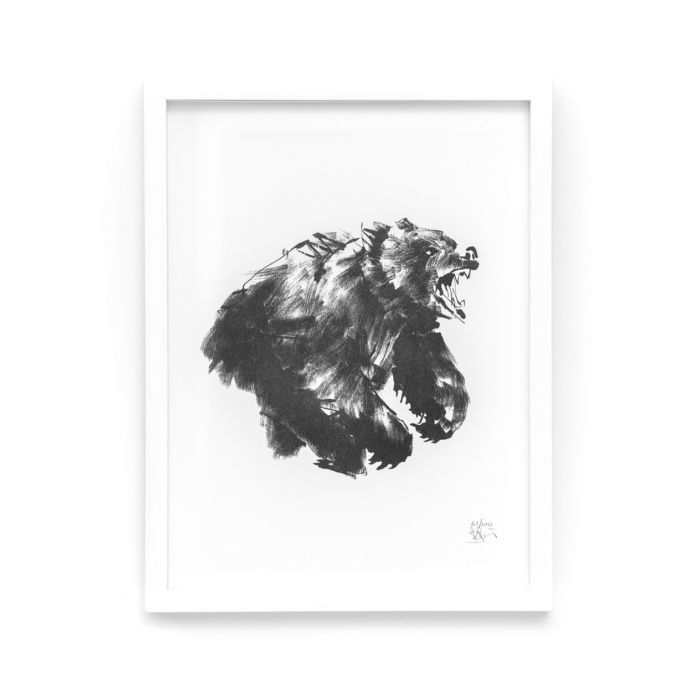 bear art print by teemu jarvi