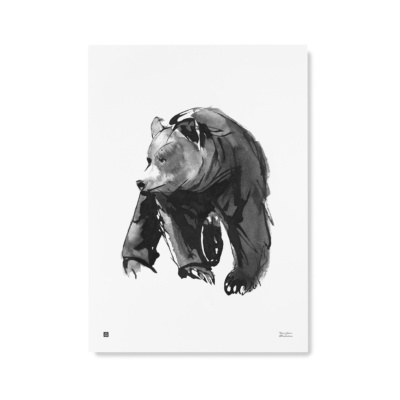 bear art print poster by teemu jarvi