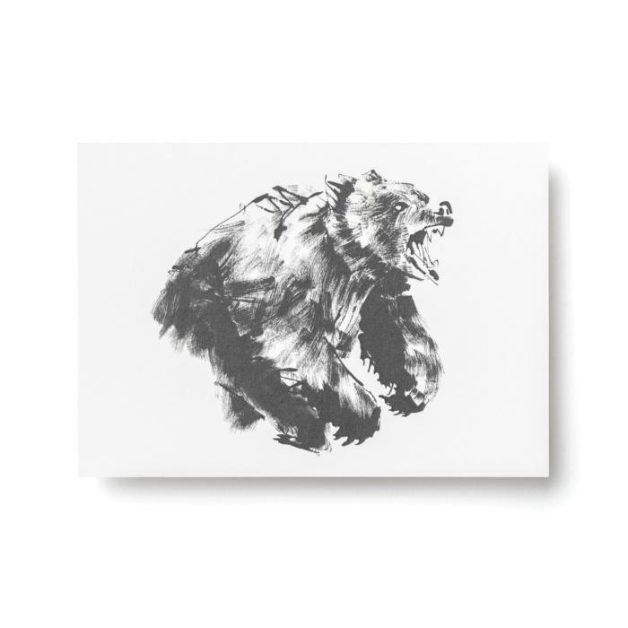 bear postcard art print by teemu jarvi