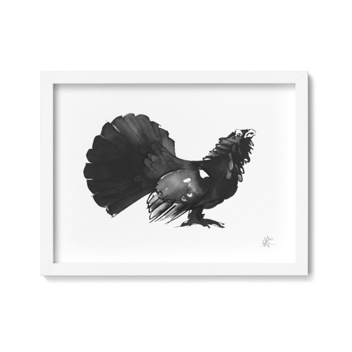 capercaillie art print by teemu jarvi