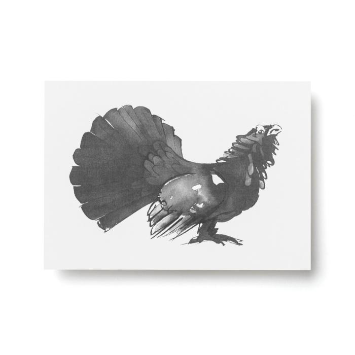capercaillie postcard art print by teemu jarvi