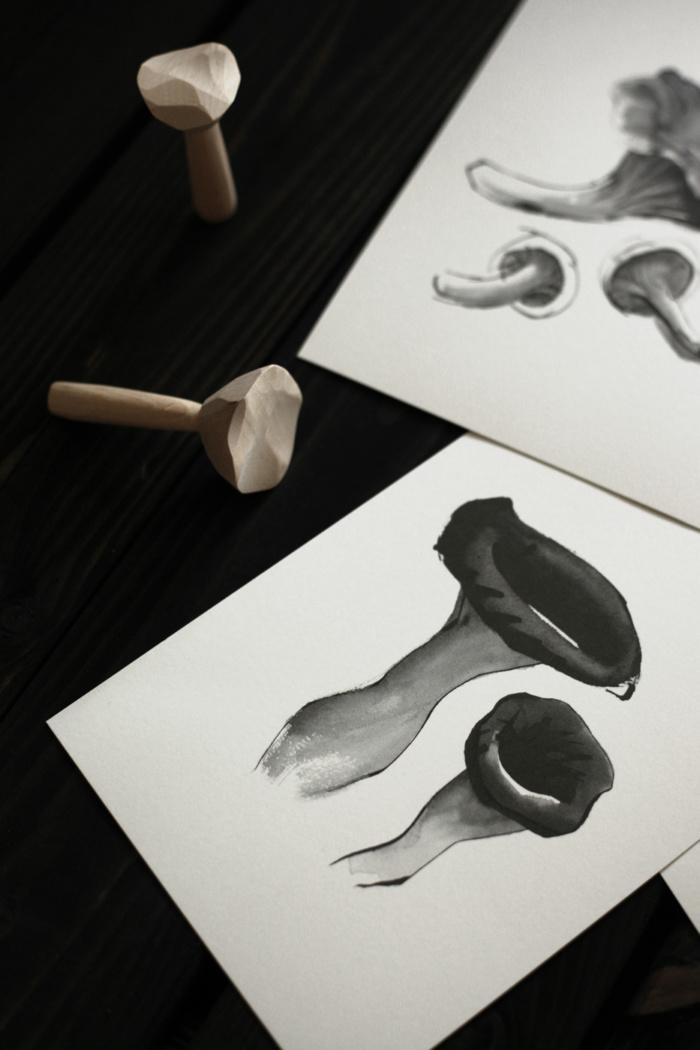 Mushroom card art print by teemu jarvi