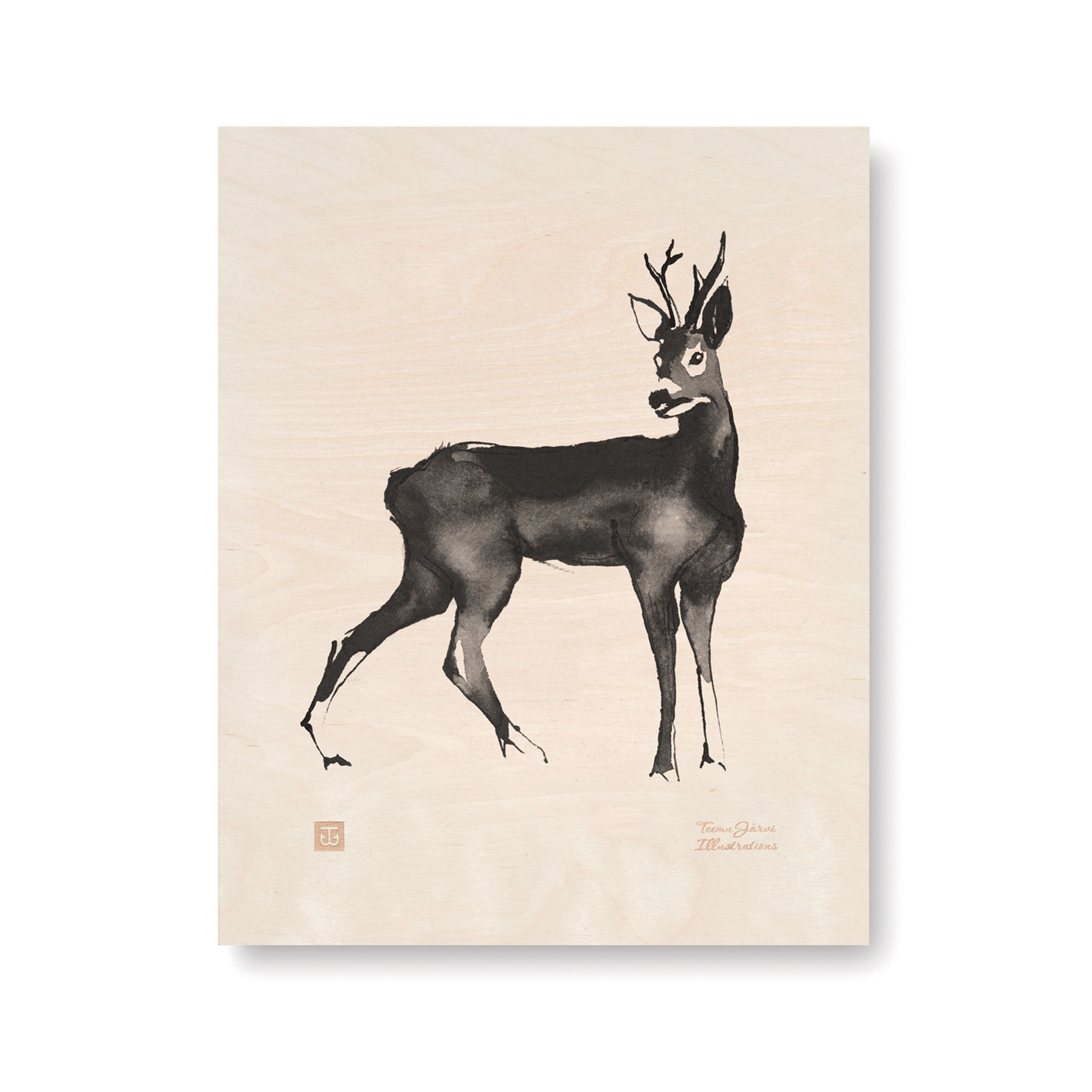 Deer plywood poster