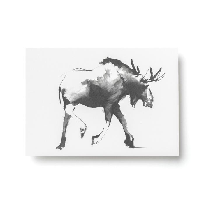 elk forest greetings postcard art print by teemu jarvi