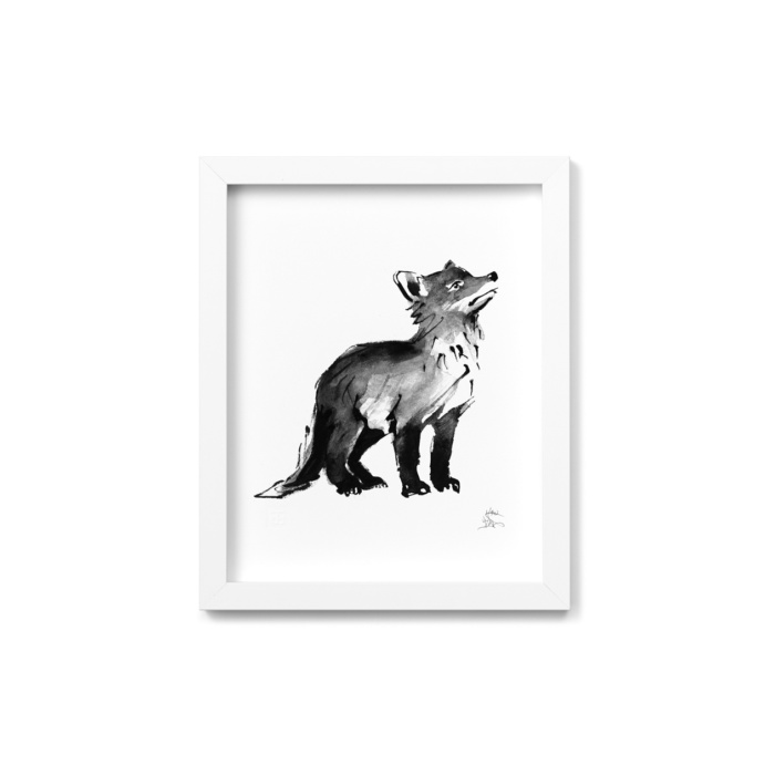 fox cub art print by teemu jarvi