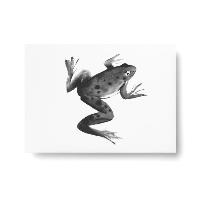 frog postcard art print by teemu jarvi