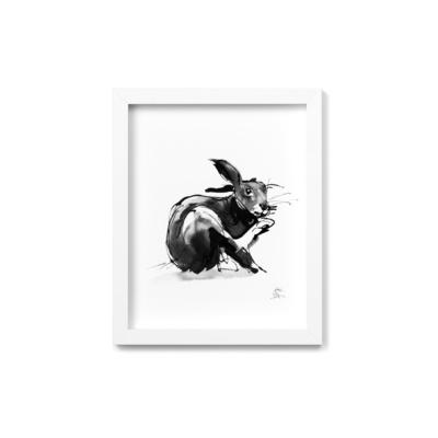 Hare framed wall art