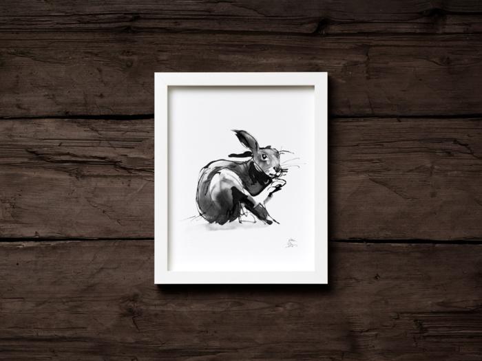 hare art print by teemu jarvi