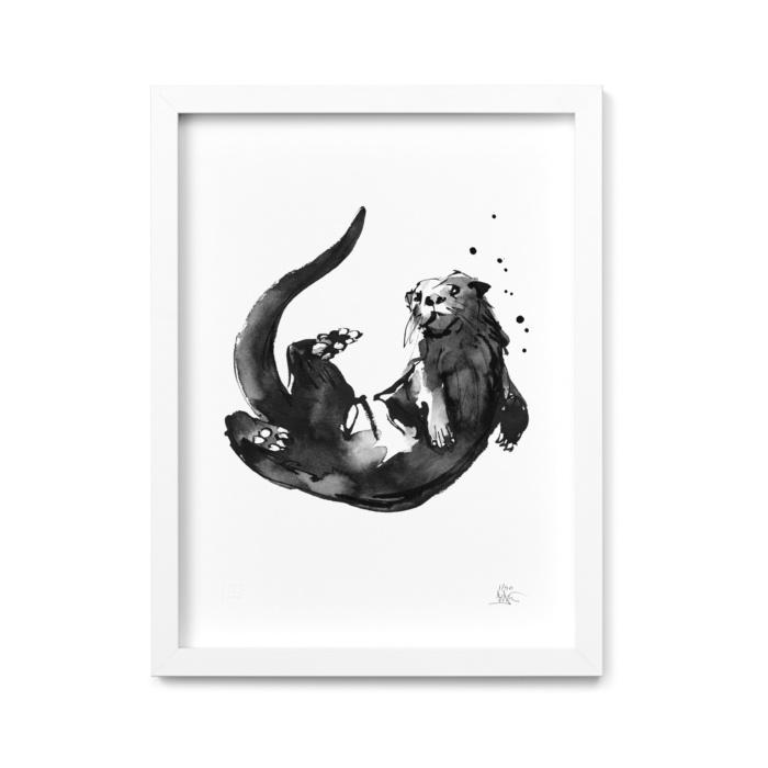 otter art print by teemu jarvi
