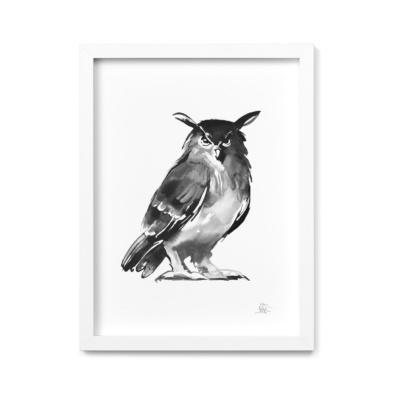 owl art print by teemu jarvi