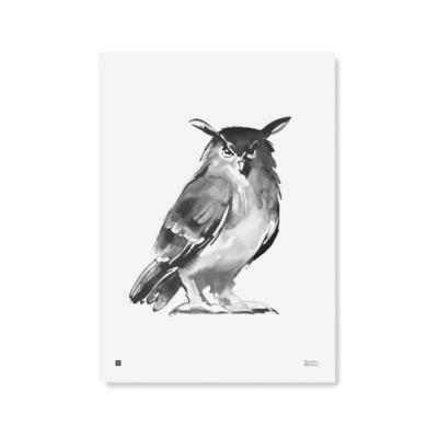 owl art print poster by teemu jarvi