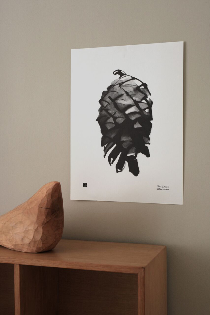 pine cone art print poster by teemu jarvi