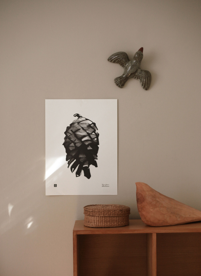 pine cone wall decor