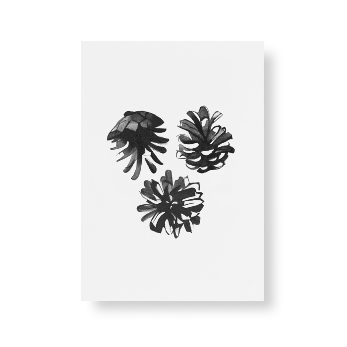 pine cones art print postcard set by teemu jarvi