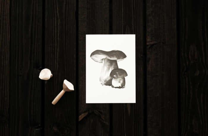 Porcini mushroom card