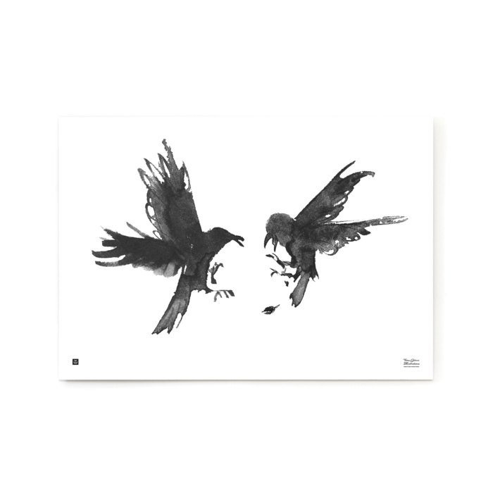 Black & white Raging Ravens wall decor