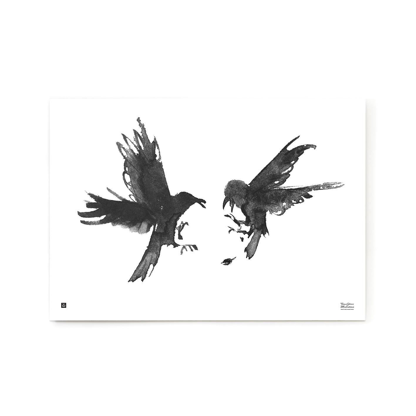 Raging ravens poster