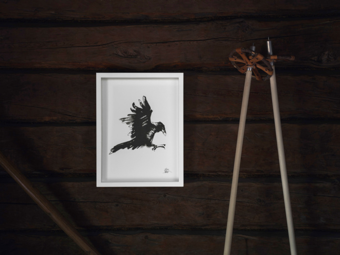 raven fine art print by teemu jarvi