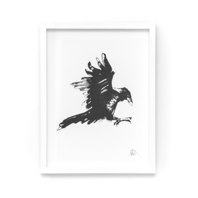 The Raven fine art print features one of the most intelligent feathered creatures on Earth.