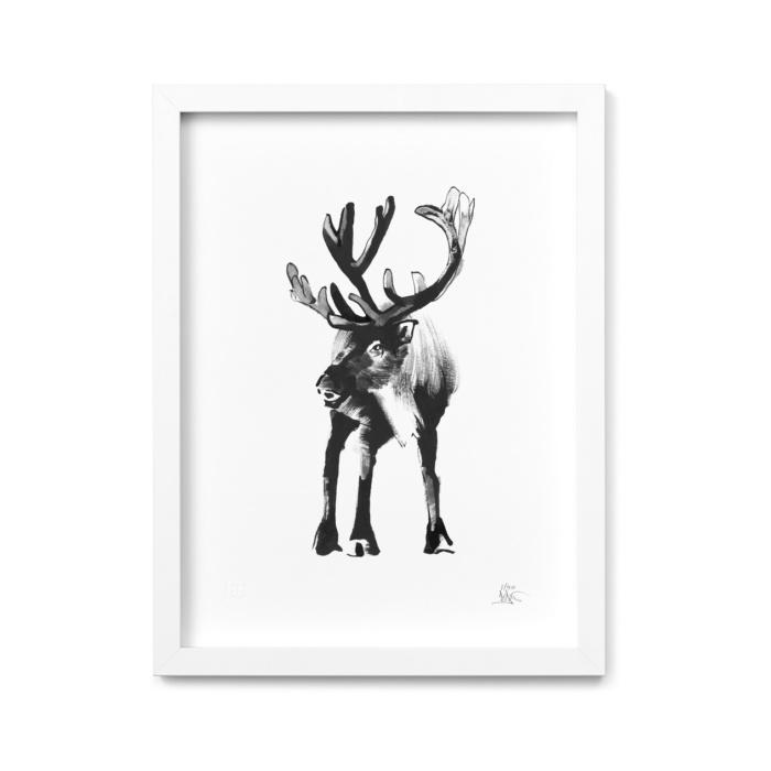 reindeer art print by teemu jarvi