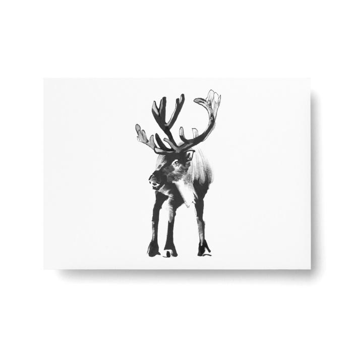 reindeer postcard art print by teemu jarvi