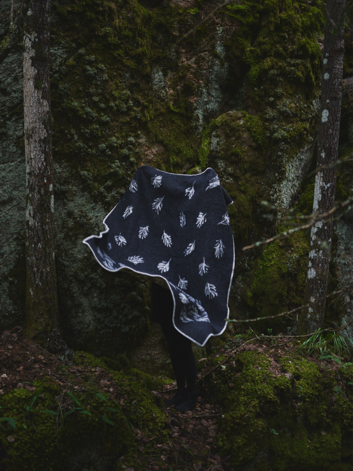 "The Shinrin-yoku wool blanket was named after the Japanese term for ""forest bathing"", Shinrin-yoku, a recognised method for preventive health care."