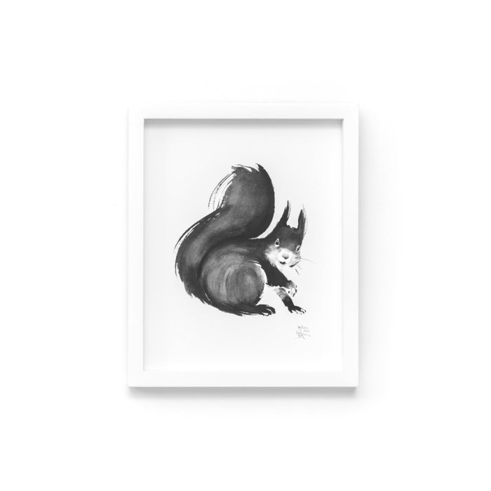 squirrel art print by teemu jarvi