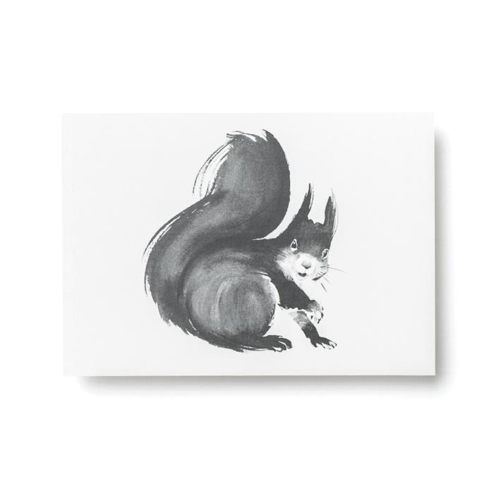 squirrel postcard art print by teemu jarvi