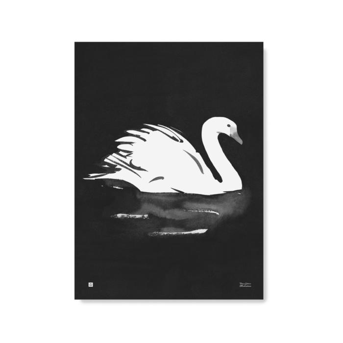 swan art print paper poster by teemu jarvi