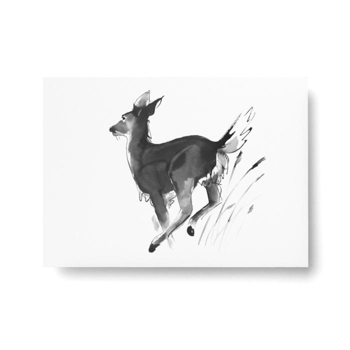 white-tailed deer postcard art print by teemu jarvi