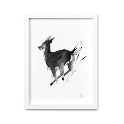 white-tailed deer art print by teemu jarvi