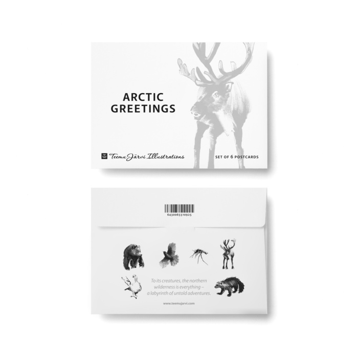 arctic greetings greeting card
