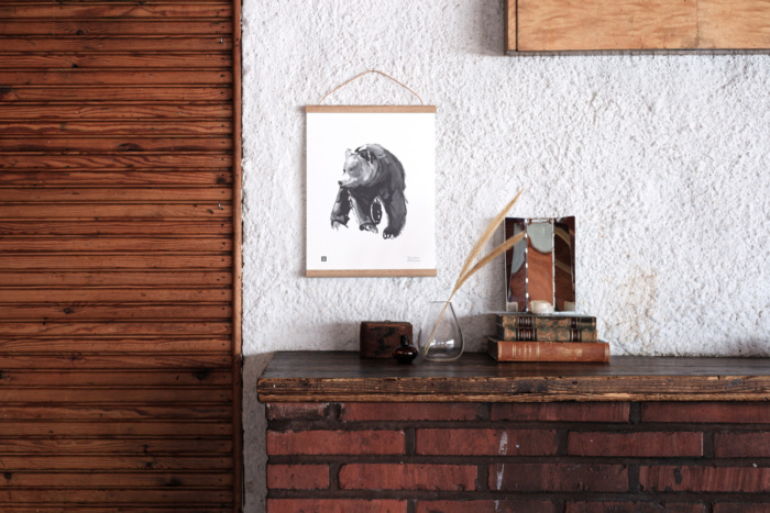 bear art print poster by teemu jarvi