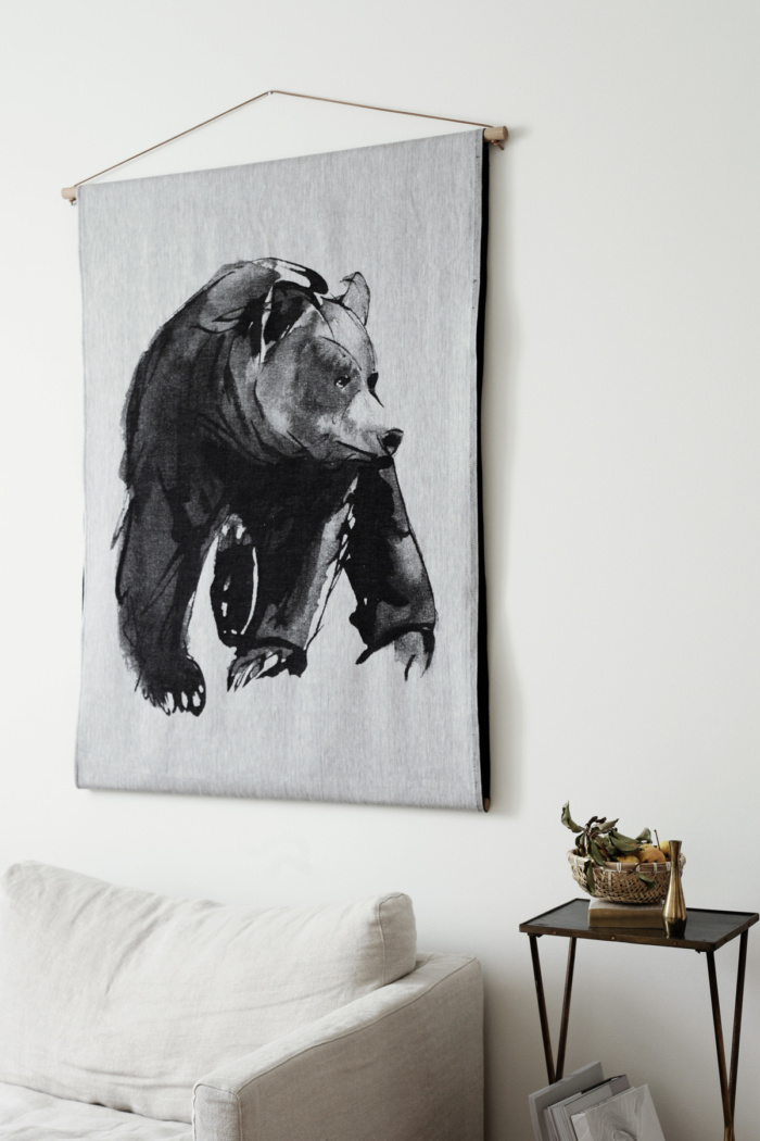 bear art textile by teemu jarvi