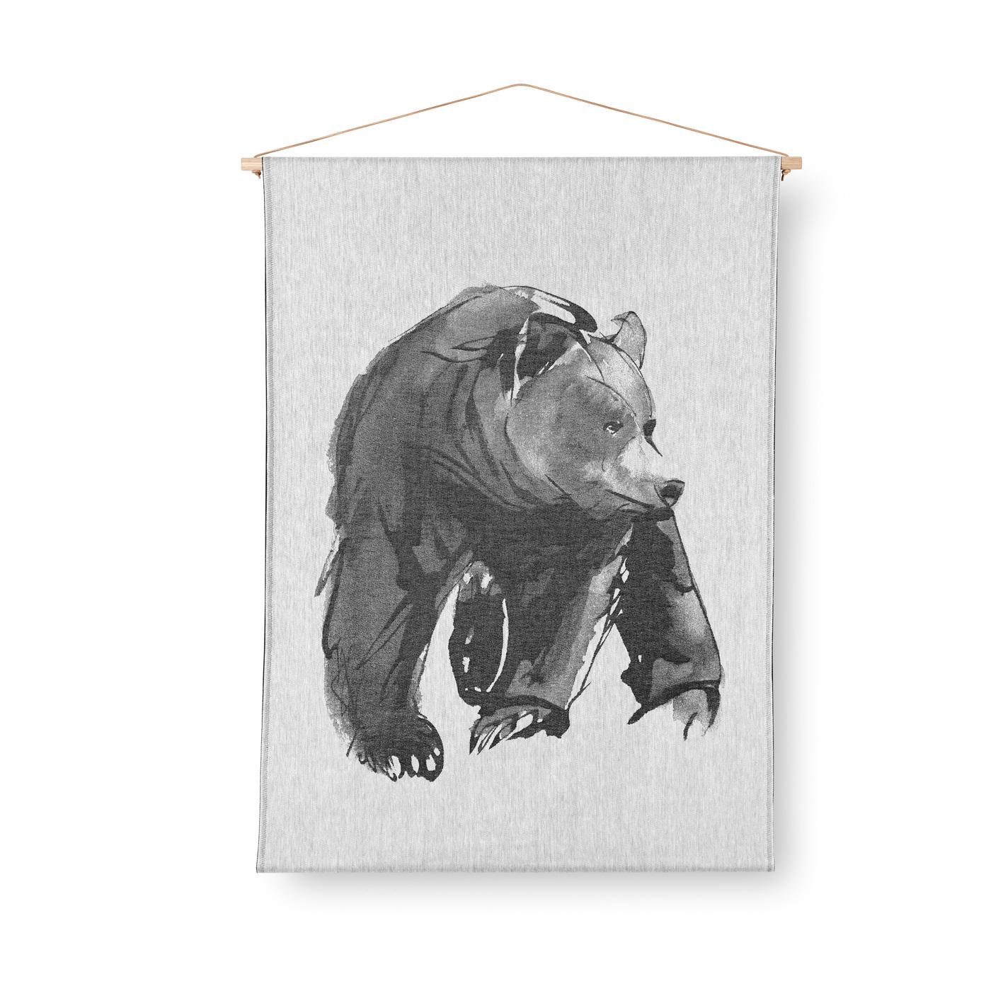 Bear art textile
