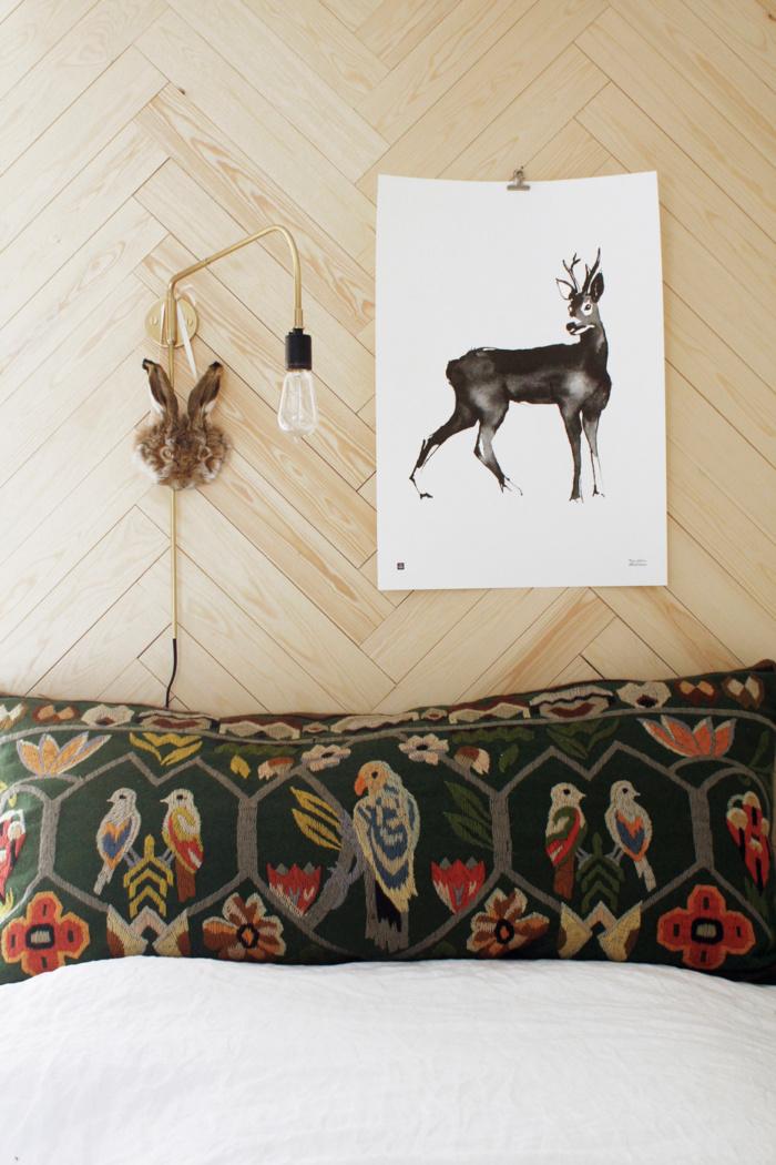 Black & white deer framed wall art