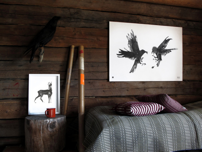 raging ravens art print poster teemu jarvi