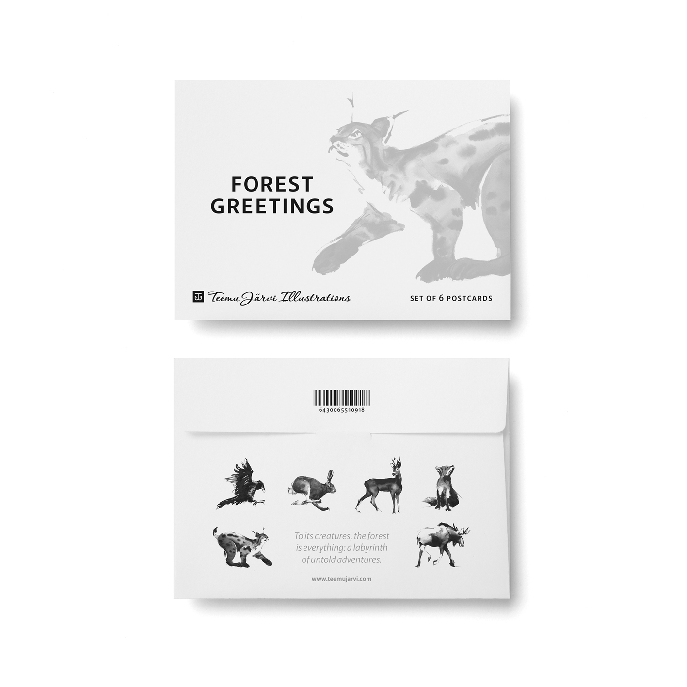 Forest Greetings card set