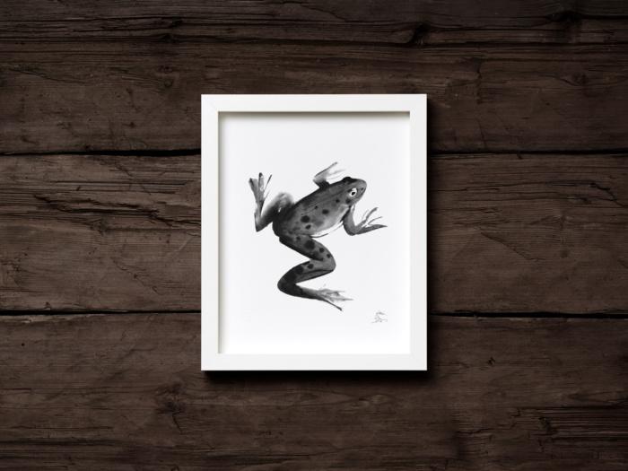 frog art print by teemu jarvi