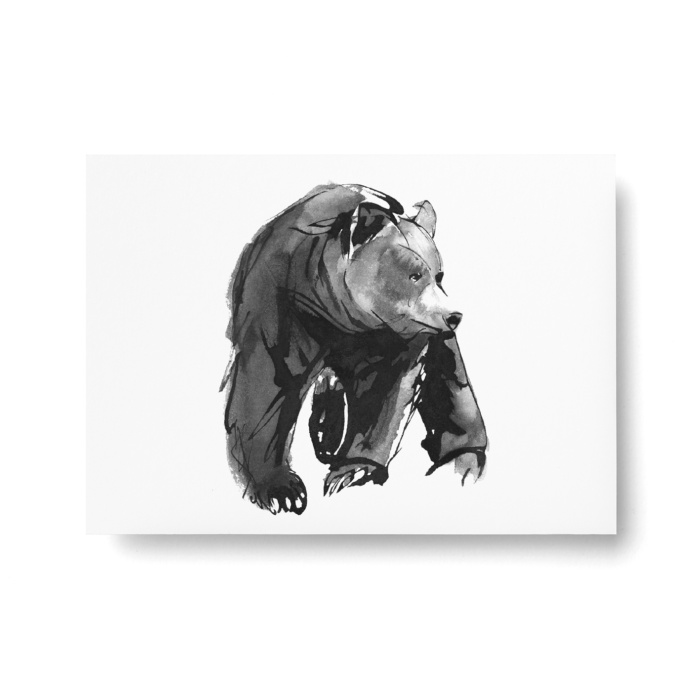 bear postcard art print by teemu jarvi