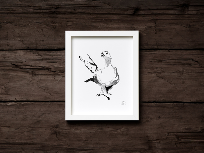 grouse art print by teemu jarvi