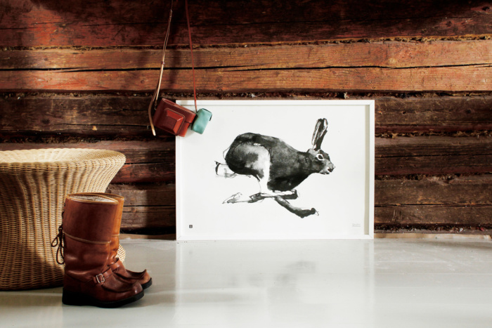 The Hare art poster captures light and movement