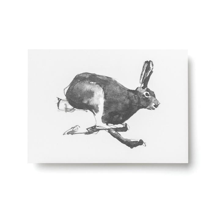 hare forest greetings postcard art print by teemu jarvi