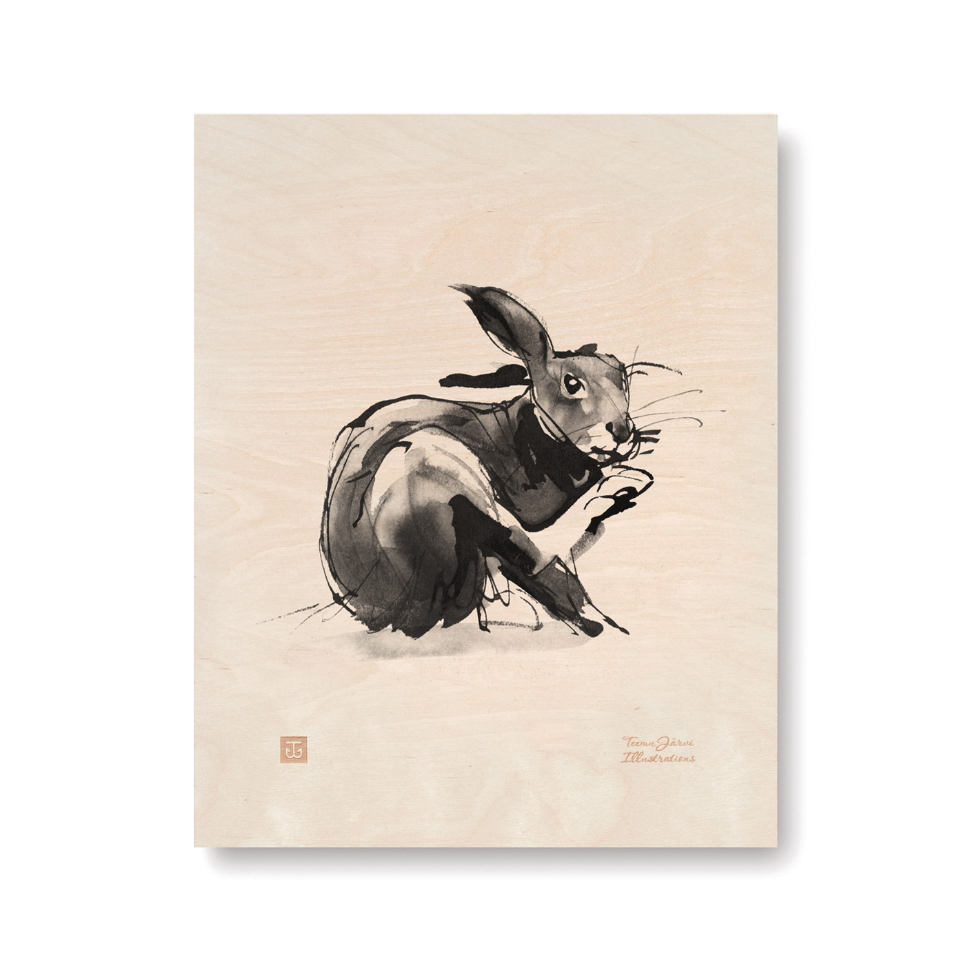 Hare plywood poster