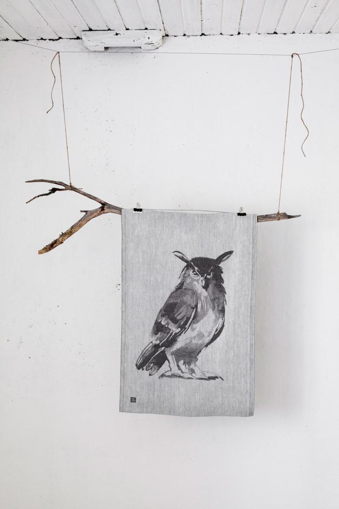 owl tea towel teemu jarvi x lapuan kankurit