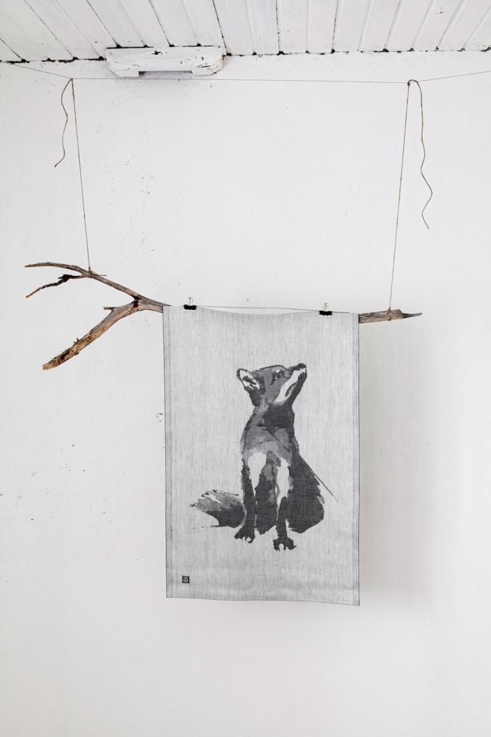 Fox woven home textile