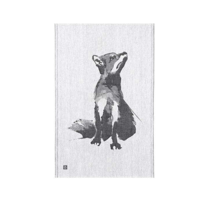 Woven fox teatowel